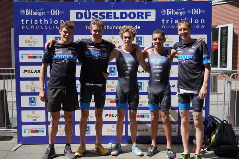 Platz 7 in der 1. Triathlonbundesliga in Düsseldorf